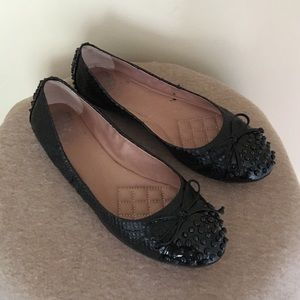 Vince Camuto Black Studded Flats